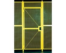 HIGH SECURITY WIRE PARTITION SYSTEM: HINGE DOORS